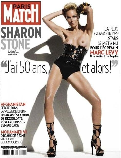sharon-stone-in-paris-match-cover